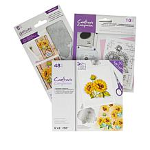 Crafter's Companion Sunflower Floral Decoupage Topper Stamp & Die Set