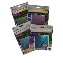 Crafter's Companion Winter Wishes   3D Embossing Folders