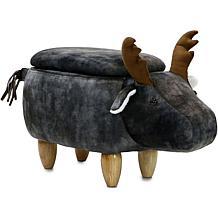 "Critter Sitters 15"" Plush Animal Storage Ottoman - Elk"