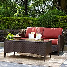 Crosley Kiawah 2pc Outdoor Wicker Seating Set - Sangria
