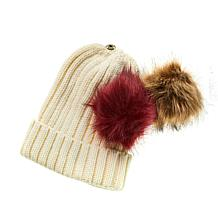 Curations Boxed Pompom Hat Set