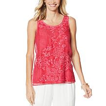 Curations Embroidered Tank