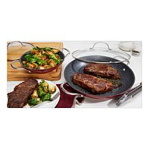 "Curtis Stone Dura-Pan Nonstick 8"" and 12"" Sauteuse Pans"