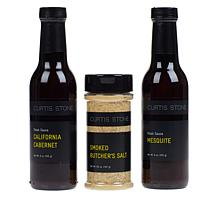 Curtis Stone Steak Sauces & Seasoning 3-piece Collection