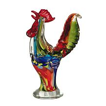 Dale Tiffany Favrile Glass Rooster Figurine