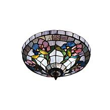 Dale Tiffany Hollyhock Semi Flush Mount Light Fixture