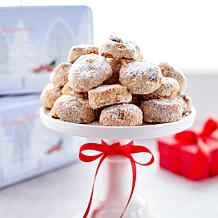 David's Cookies (2) 1lb Pecan Meltaways w/Holiday Tins - Rec. by 12/13