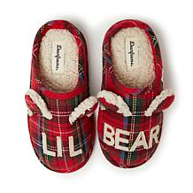 Dearfoams Lil Bear Plaid Clog