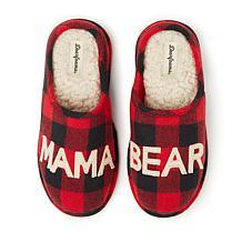 Dearfoams Women's Buffalo Check Mama Bear Clog Slipper
