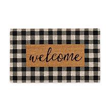 Design Imports Checkers Welcome Doormat