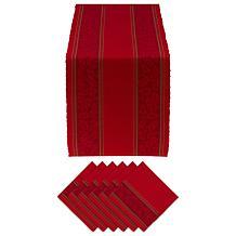 Design Imports Holly Stripe Jacquard Table Set