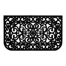 Design Imports Scroll Pin Rubber Doormat