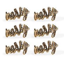 Design Imports Set of 6 Merry Napkin Rings