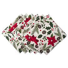 Design Imports Woodland Holiday Cloth Napkin Set of 6