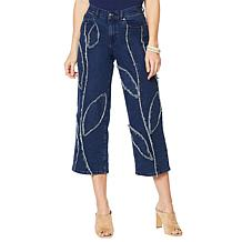 Dg Wide Leg Fray Detail Jean