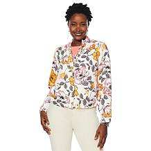 DG2 by Diane Gilman Printed Zip-Front Jacket
