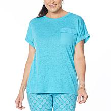 DG2 by Diane Gilman Slub Pocket Tee