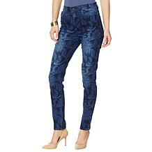 DG2 by Diane Gilman Virtual Stretch Paisley-Print Skinny Jean