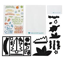 Diamond Press 3D Christmas Gatefold Stamp and Die Kit