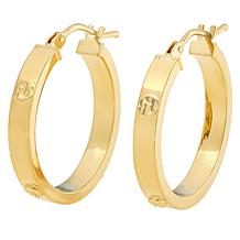 Dieci 10K Gold Electroform Diamond-Cut Accent Hoop Earrings