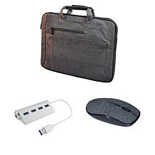 "Digital Basics 14"" 2-in-1 Laptop Bag with Mouse & USB Hub"