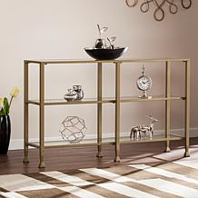 Dina Metal/Glass 3-Tier Console Table Media Stand
