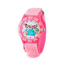 Disney Princess Kid's Pink Bezel Pink Strap Time-Teacher Watch