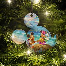 Disney Thomas Kinkade Mickey & Minnie Hawaii Hanging Acrylic