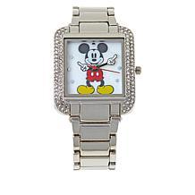 Disney Women's Silvertone Moving Hands Watch