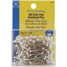 Dritz Quilting Extra-Fine Glasshead Pins