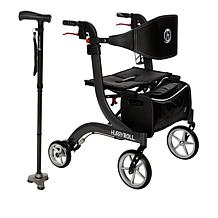 Drive Medical HurryRoll™ Rollator and HurryCane® Set