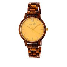 Earth Wood Pike Yellow Dial Olive Wood Bracelet Watch