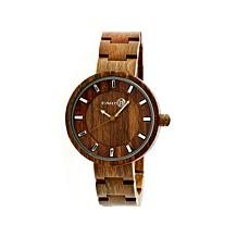 "Earth Wood ""Root"" Olive Dial Wood Bracelet Watch"