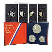 Eisenhower Silver Dollars and Bicentennial Proof Set