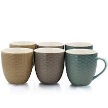 Elama Honeysuckle 6-piece 15 oz. Mug Set - Assorted Colors