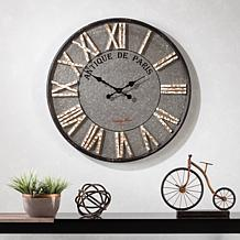Ellerby Round Rustic Farmhouse Wall Clock