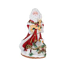 Fitz and Floyd Hand Painted Santa Musical Figurine