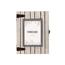 """Foreside Home & Garden White 4""""x6"""" Wood Shadow Box Picture Frame"""