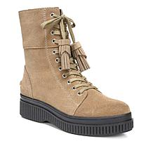Franco Sarto Becks Suede Lace-Up Combat Boot