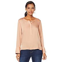G by Giuliana Hammered Satin Blouse