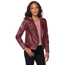 G by Giuliana Ultra Luxe Embroidered Moto Jacket