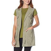 G by Giuliana Woven Utility Cargo Vest