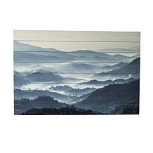 """Gallery 57 Misty Mountains 24"""" x 36"""" Print on Wood"""