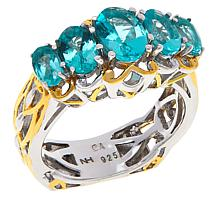 Gems by Michael Sterling Silver Dauphin Apatite 5-Stone Band Ring