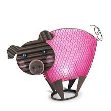 "Gerson Company 19"" Solar Lighted Garden Meadow Pig"