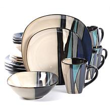 Gibson Home Elite Althea 16-piece Dinnerware Set in Teal