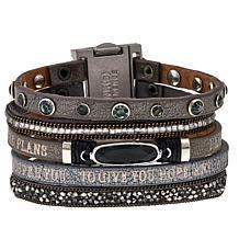 "Good Work(s) ""His Promise Never Fails"" Leather Strap Bracelet"