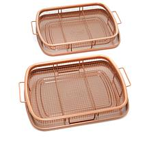 Gotham Steel Max 2pk Crisper Trays with Crumb Catcher