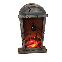 Halloween Fire-Effect Battery-Operated Tombstone