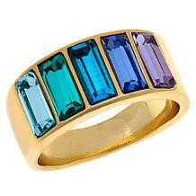 Heidi Daus Beautiful Baguette Band Ring